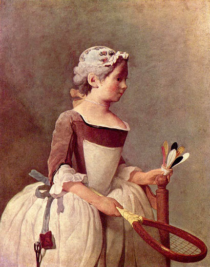 Jean-Baptiste Siméon Chardin: Das Mädchen mit dem Federball