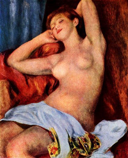 Pierre-Auguste Renoir: Schlafende Baigneuse